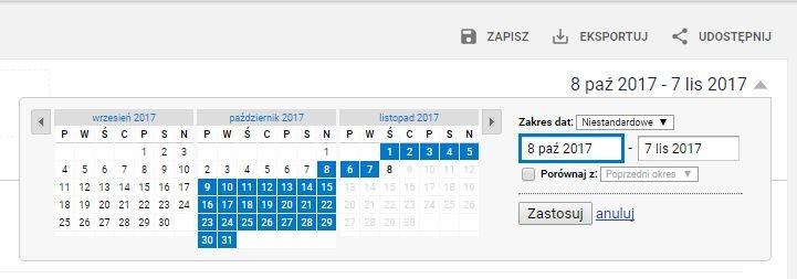 kalendarz analytics