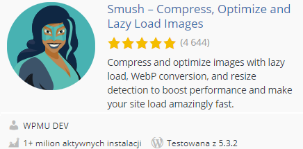 Smush Image Optimization, Compression and Lazy Load