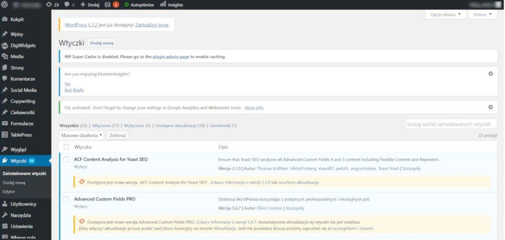 WordPress wciąż się rozwija, a strona razem z nim